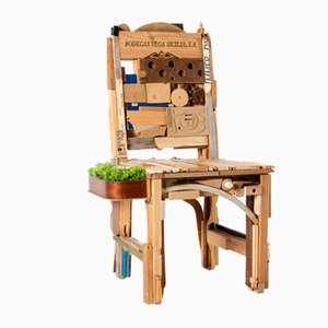 Pieces Chair with Tray by Patrizia Ricci