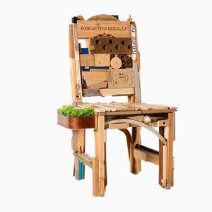 Pieces Stuhl mit Tablett von Patrizia Ricci