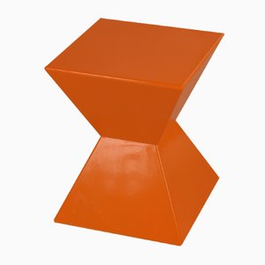 Space Age Orange & Red Cubic Table or Stool, 1970s