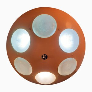 Aluminum Ceiling Lamp by Oscar Torlasco for Lumi, 1960s