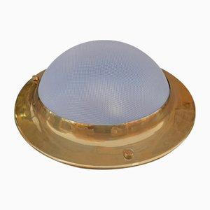 Model LPS6 Brass, Plastic & Glass Ceiling Lamp by Luigi Caccia Dominioni for Azucena, 1950s