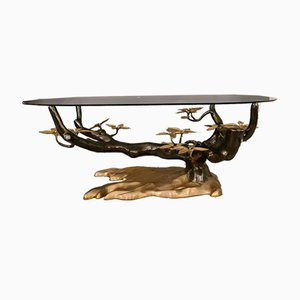 Bonsai Brass Coffee Table by Willy Daro, 1970s