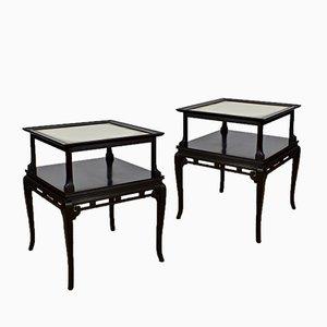 Vintage Side Tables, 1920s, Set of 2