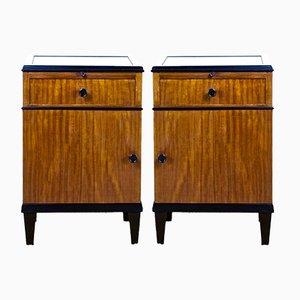 Tables de Chevet Art Déco Vintage, Set de 2