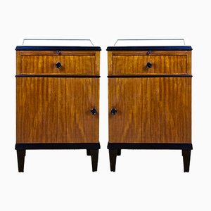 Vintage Art Deco Nightstands, Set of 2
