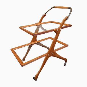 Ash and Brass Trolley by Cesare Lacca for Cassina, 1950s