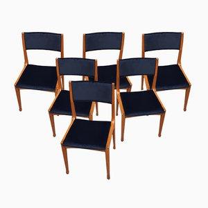 Chaises de Salon Modèle 693 par Carlo de Carli pour Cassina, 1950s, Set de 6
