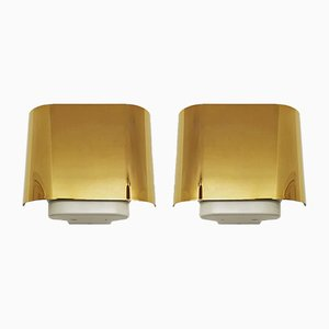 Golden Sconces from Staff, 1960s, Set of 2
