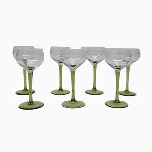Antike Jugendstil Weingläser, 7er Set