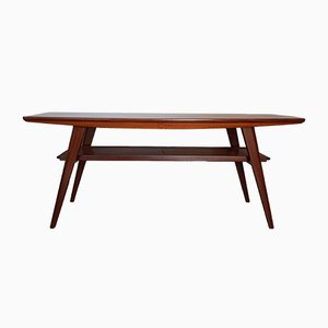 Mid-Century Norwegian Teak Coffee Table with Extension