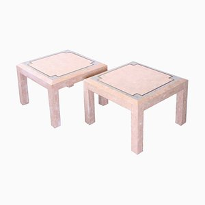 Pink Marble Mosaic Coffee Table by Robert Marcius for Casa Bique, 1970s, Set of 2