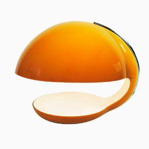 Lampada da scrivania vintage in plastica arancione di Harvey Guzzini per Guzzini