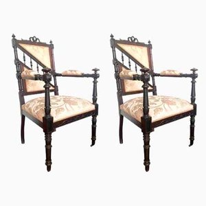 Rosewood Armchairs, Set of 2