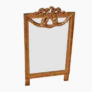 Antique Louis XVI Golden Wood Mirror