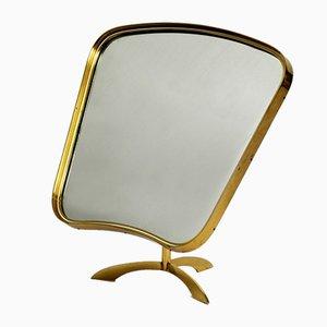 Brass Table Mirror Mirror from Vereinigte Werkstätten Collection, 1950s