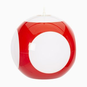 Red UFO Ball Pendant Lamp by Luigi Colani for Massive Lighting, 1970s