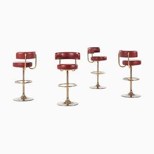 Barstools by Borje Johansson for Johanson Design, Markaryd, Sweden, Set of 4