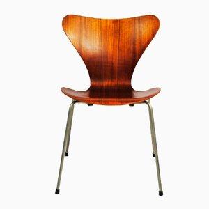 Chaise 7-Series Vintage en Teck par Arne Jacobsen pour Fritz Hansen