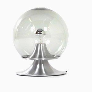 Große transparente Glas Tischlampe von Raak Amsterdam, 1961