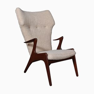 Lounge Chair in Sheepskin by Kurt Østervig