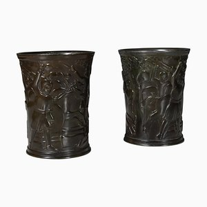 Disko Metal Vases from Just Andersen, Set of 2