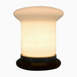Lámpara de mesa de vidrio y cerámica, años 60