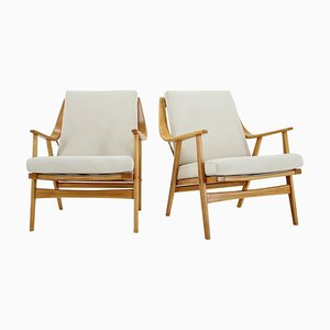 Beech Armchairs by Jaroslav Smidek, Czechoslovakia, 1960s, Set of 2