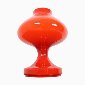 Lampe de Bureau Rouge tout en Verre par Stefan Tabery, 1960s
