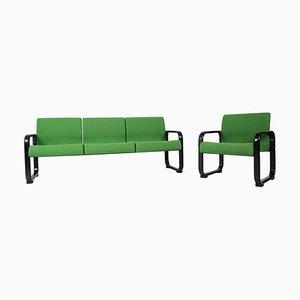 3-Sitzer Sofa und Sessel, Deutschland, 1970er Jahre, 2er-Set