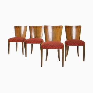 Art Deco Dining Chairs H-214 by Jindrich Halabala for Up Zá, Set of 4