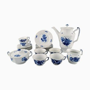 Royal Copenhagen Blue Flower Angular Complete Coffee Service in Porcelain