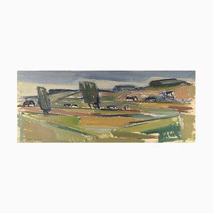 Uno Svärd, Svezia, olio su tela, paesaggio modernista, anni '60 -'70