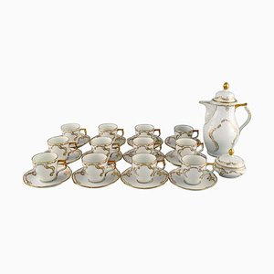 Porcelain Coffee Service Set with Gold Decoration from Rosenthal