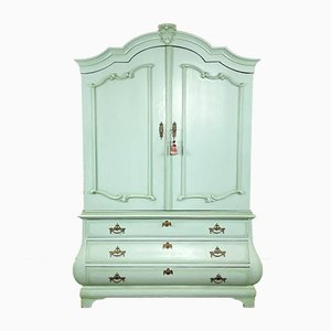 Light Blue Pine Painted Antique Dutch Cabinet