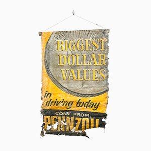 Vintage Pennzoil Öl Werbeplakat Schild