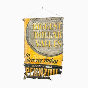 Vintage Pennzoil Oil Advertising Canvas Poster Sign