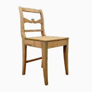 Chaise de ferme suédoise antique en pin
