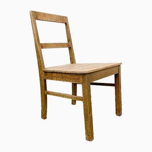 Chaise de ferme suédoise antique en orme et pin