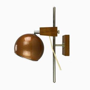 Lampada sferica Space Age in teak di Temde, anni '60