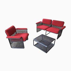 2-Sitzer Sofa, Armchar & Couchtisch Set von Talin Vincenza, 1970