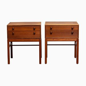 Teak Casino Nightstands or Side Tables by Engström & Myrstrand for Tingströms, 1960s, Set of 2