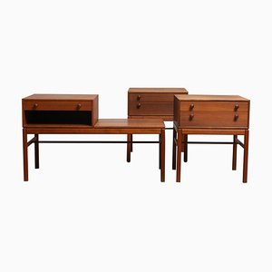 Teak Casino Nightstands and Side Table by Engström & Myrstrand for Tingströms, 1960s, Set of 2