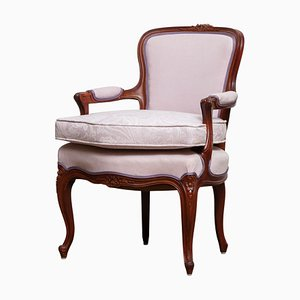 Swedish Rococo Style Pink Bergère Chair, 1950s