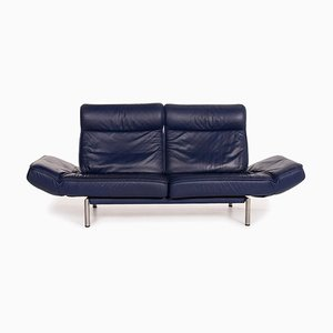 DS 450 Leather Sofa in Blue with 2-Seat Function from de Sede