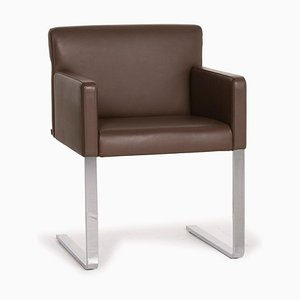 Quant Leather Armchair in Brown from Cor