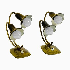 Mid-Century Modern Messing Tischlampen, 1960er, 2er Set