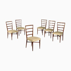 Chairs in Beech, Italy, 1950s, Set of 6
