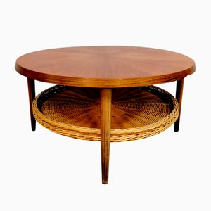 Mid-Century Danish Round Rosewood Coffee Table