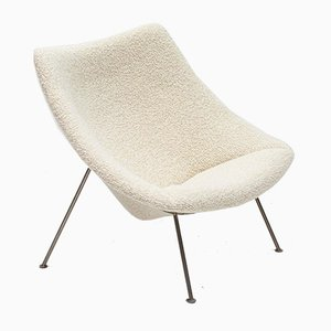Large Oyster Chair in Chunky Bute Bouclé by Pierre Paulin & Tom Dixon for Artifort, 1960s