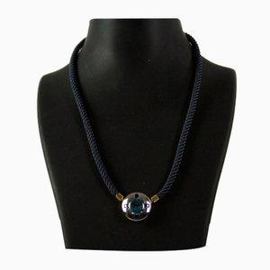 Halskette mit Blautopas und Saphiren